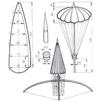Простая авиационная игрушка стрела - парашют.