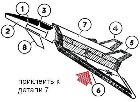 """Модели этой схемы могут...  Простая модель самолета из бумаги - """"Искра """" ."""