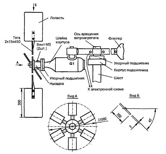 Простейший ветрогенератор своими руками чертежи для дачи