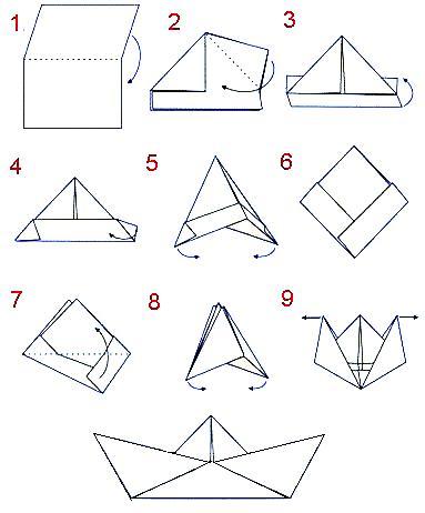 Как из бумаги сделать кораблик - Город бисера.
