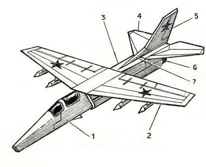 Модели самолетов из картона своими руками чертеж