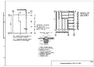План фундамента бани.
