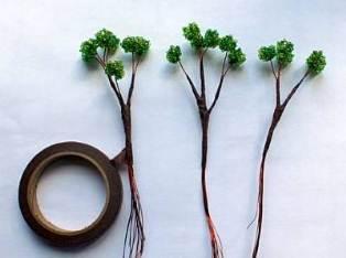 Из бисера деревья техника плетения для начинающих (фото).
