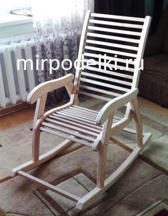 Кресло-качалка из дерева своими руками.