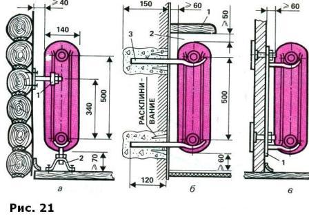 Чугунные батареи схема