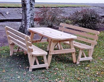 Стол и скамейки из дерева своими руками фото 123