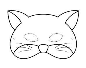 Шаблон новогодней маски кота